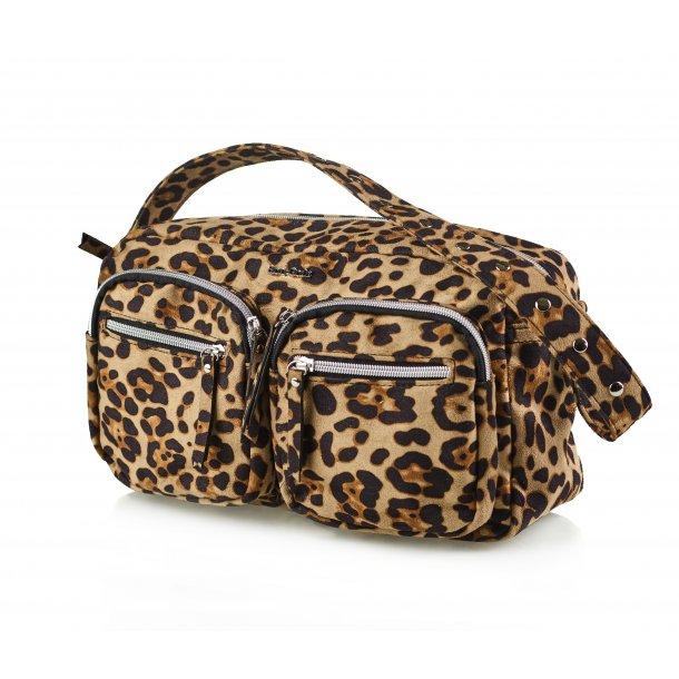 Bon Goût Molly taske suede leopard sand