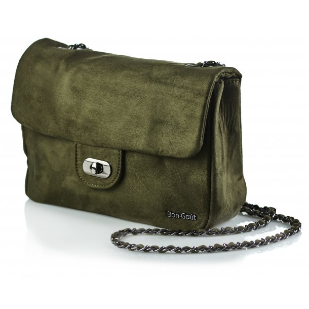 Crossbody suede olive
