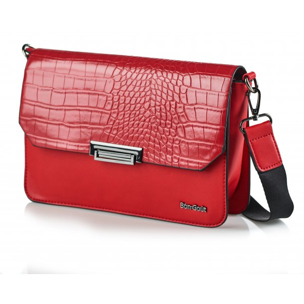 Crossbody croco rød