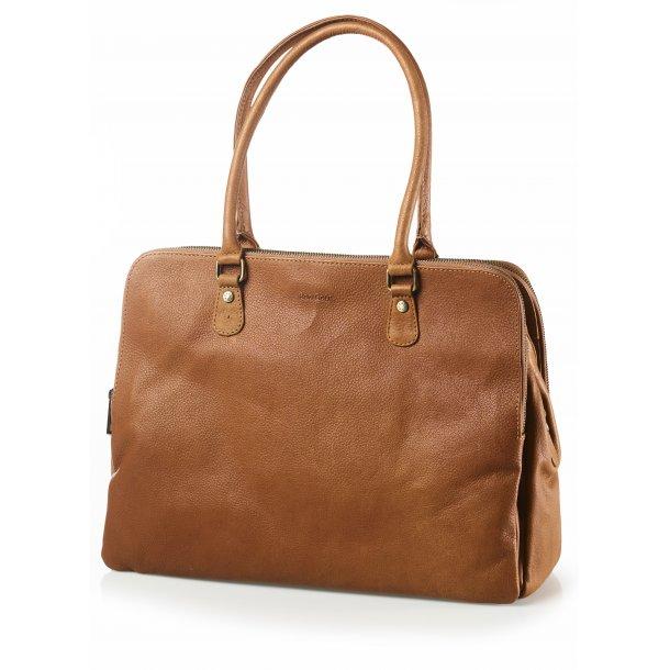 Working bag cognac