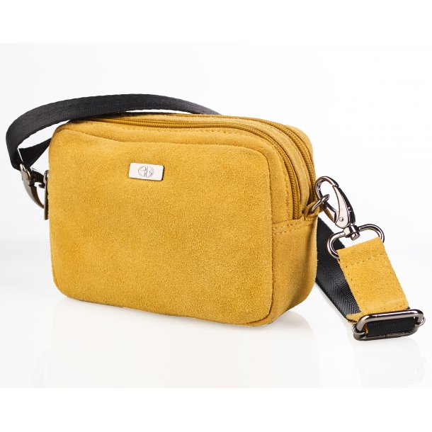 Box bag suede gul
