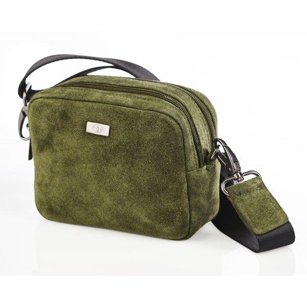 Box bag suede olive